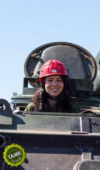 Tank driving kid