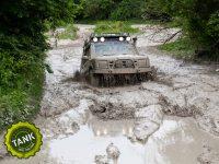 4x4 driving through mud
